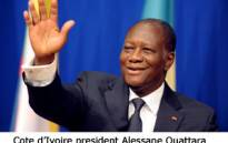 Cote d'Ivoire president Alessane Ouattara. Picture: AFP.