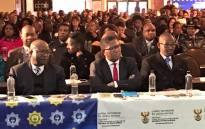 Police Minister Fikile Mbalula (centre) listening to the panellists at the Police Indaba on Gender-Based Violence in Centurion. Picture: SAPS.