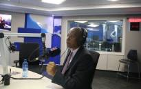 Johannesburg Mayor Herman Mashaba during an interview on Talk Radio 702. Picture: Refilwe Pitjeng/EWN.