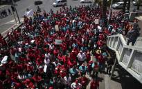 Hundreds of Cape Town Shoprite and Checkers workers joined the nationwide strike. Workers are demanding better working conditions. Picture: Cindy Archillies