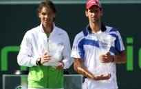 Novak Djokovic poses with Rafa Nadal after the Serb won his fourth Sony Open title in Miami on 30 March 2014. Picture: Facebook.com.