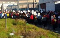 Sactwu members on strike. Picture: @SACTWU/Twitter