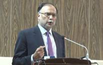 Pakistan's interior minister Ahsan Iqbal. Picture: @PlanComPakistan/Twitter.