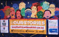 SA Book Fair banner in Newtown. Picture: Tebogo Tshwane/EWN