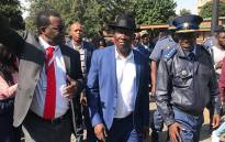 Police Minister Bheki Cele visits the TUT Soshanguve Campus on 11 May 2018.  Picture: Christa Eybers/EWN