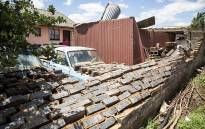 A damaged wall outside a house in Ennerdale after a tornado ripped through the Johannesburg suburb on 14 November 2016. Picture: Reinart Toerien/EWN