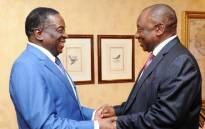 President Cyril Ramaphosa met with Zimbabwean President Emmerson Mnangagwa at the Sheraton Hotel in Pretoria on 21 December 2017. Picture: GCIS