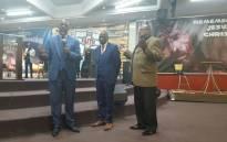 Former SABC COO Hlaudi Motsoeneng at Bishop Dununu Ministries in Mpumalanga. Picture: Supplied.