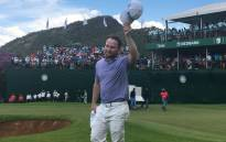 Branden Grace celebrates winning the Nedbank Golf Challenge. Picture: @golfatsun/Twitter.