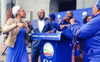 Solly Msimanga and party members. Picture: Twitter/@TanyaHeydenrych, DA Gauteng Provincial Media Liaison.