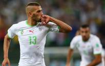 Algerian striker Islam Slimani during the Bafana Bafana versus Algeria 2015 Afcon match. Picture: Twitter @FIFAcom.