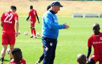 Wits coach Gaving Hunt overseas a training session. Picture: @BidvestWits/Twitter
