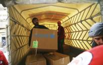 Unicef delivering aid to Syria's besieged enclave of eastern Ghouta. Picture: @UNICEF/Twitter.