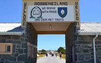 FILE: Robben Island gate welcomes visitors. Picture: EWN