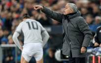 Manchester United's Portuguese manager Jose Mourinho gestures as Manchester United's Swedish striker Zlatan Ibrahimovic prepares to enter the fied during the Uefa Champions League Group A football match between FC Basel and Manchester United on 22 November, 2017 in Basel. Picture: AFP.