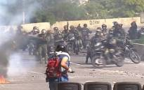 FILE: Seven military officers were injured after an explosion in Venezuela. Picture: screengrab/CNN.