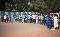 Residents of the PK5, a Muslim-majority district, demonstrate in front of the headquarters of MINUSCA, the UN peacekeeping mission in Central Africa Republic, following clashes in Bangui, on 11 April 2018. Picture: AFP