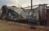 FILE: A shack erection once used as a classroom at the Braamfischerville Primary School was set alight by community members on Monday 26 October. Picture: SAPS