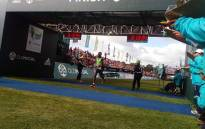 Zimbabwean Mike Fokoroni won the men's Two Oceans Ultra Marathon. Picture: Carl Lewis/EWNSport