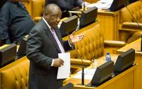 Deputy President Cyril Ramaphosa  addresses Parliament. Picture:EWN