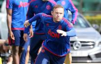 Manchester United striker, Wayne Rooney during team training. Picture: Manchester United/Facebook page.