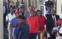 EFF leader Julius Malema leaves the Constitutional Court on 30 March 2017 after filing an application to order the Speaker of Parliament to institute impeachment or disciplinary proceedings against President Jacob Zuma for conduct associated with the Nkandla scandal, including lying to Parliament on numerous occasions. Picture: Christa Eybers/EWN.