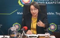 Cape Town Mayor Patricia de Lille addresses the media at a briefing about the city's water plans. Photo: Bertram Malgas/EWN