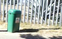 A newborn's body was found in this bin on 3 March 2017 in Bishop Lavis, Cape Town. Picture: facebook.com