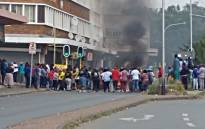 A protest in Rossentenville affected several routes including Geranium and Main Street. Picture: Supplied.