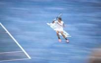 Defending champion Roger Federer in action against Slovenian Aljaz Bedene at the Australian Open. Picture: @AustralianOpen/Twitter.