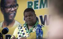 David Mahlobo, Minister of Energy, discusses issues at a press conference at #ANC54. Picture: Thomas Holder/EWN