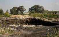 FILE: The disused mine near Boksburg where rescue operations for 5-year-old Richard Thole were halted on 28 February 2017. Picture: EWN.