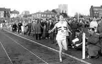 FILE: Roger Bannister crosses the finish line on 6 May, 1954 to break the four-minute mile barrier. Picture: Facebook.com