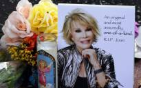 FILE: Flowers were placed on the Hollywood Walk of Fame Star for Joan Rivers in Hollywood, California on 4 September 2014, following news of the comedian's death in New York at the age of 81. Picture: AFP.