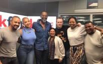 US R&B artist Brian McKnight with the KFM Breakfast team on 12 December 2017. Picture: Primedia Broadcasting