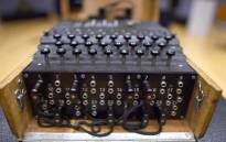 FILE: A rare and fully-functional German Naval four-rotor Enigma enciphering machine (M4) is viewed at Bonhams New York in October 2015. Picture: AFP.