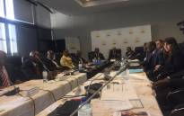 Heads of the Superior Courts hold a briefing after they met to discuss matters concerning the udiciary. Picture: Clement Manyathela/EWN.