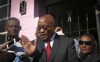 President Jacob Zuma speaks after visiting the family of murdered three-year-old Courtney Pieters in Elsies River in Cape Town. Picture: Cindy Archillies/EWN