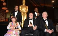 Honourees (L-R) Agnes Varda, Alejandro Gonzslez Inarritu, Owen Roizman, Charles Burnett and Donald Sutherland pose with their Oscars at the 9th Annual Governors Awards gala in California. Picture: AFP.