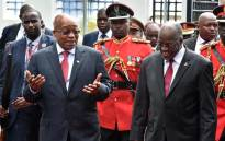 President Jacob Zuma is welcomed by President of the United Republic of Tanzania, His Excellency John Pemba Magufuli at the State House Magogoni. Picture: GCIS