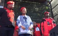 FILE: EFF leader Julius Malema address an Africa Day gathering in Joubert Park, Johannesburg. Picture: Louise McAuliffe/EWN