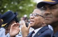 FILE: Minister of Police Fikile Mbalula addresses law enforcement members in Vanderbijl Park. Picture: Thomas Holder/EWN