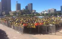 Crowd gathered at the ANC's People's Assembly event on 9 February 2017 at the Grand Parade, Cape Town CBD. Picture: Twitter/@MyANC