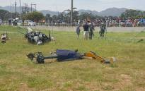 A helicopter has crashed in a school field in Lwandle near Strand. Picture: @ER24EMS