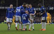 Everton players during a match against Brighton on 10 March 2018. Picture: @Everton/Twitter.