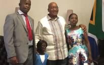 President Jacob Zuma meets 17-year-old Ontlametse Phalatse at his home in Pretoria. Picture: Katleho Sekhotho/EWN.