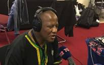 ANC chief whip Jackson Mathembu speaking to Radio 702 on Monday 18 December 2017 at the ANC national conference. Picture: Radio 702