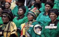 ANC Women's League members saying a prayer during the memorial service for Winnie Madikizela-Mandela. Picture: Ihsaan Haffejee/EWN.