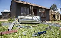 A Geyser was ripped off the roof of an Ennerdale home after a tornado ripped through the Johannesburg suburb on 14 November 2016. Picture: Reinart Toerien/EWN