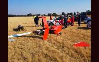The scene of a gyrocopter crash near Benoni. Picture: Twitter/@ER24EMS